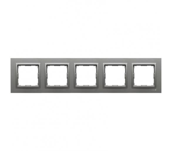 Ramka 5x aluminium VENA2 524085