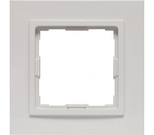 Ramka 1x biała VENA2 520481