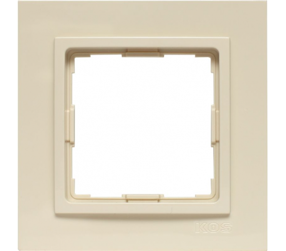 Ramka 1x kremowa VENA2 520381
