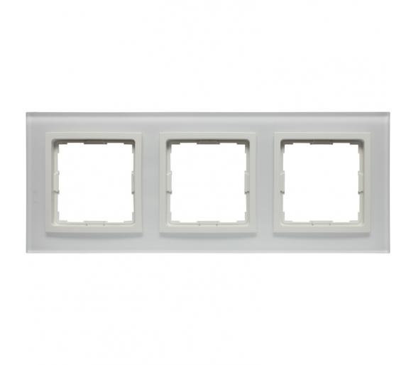 Ramka 3x białe szkło VENA2 XGLASS 5204183