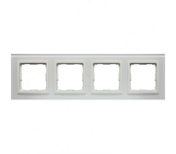 Ramka 4x białe szkło VENA2 XGLASS 5204184