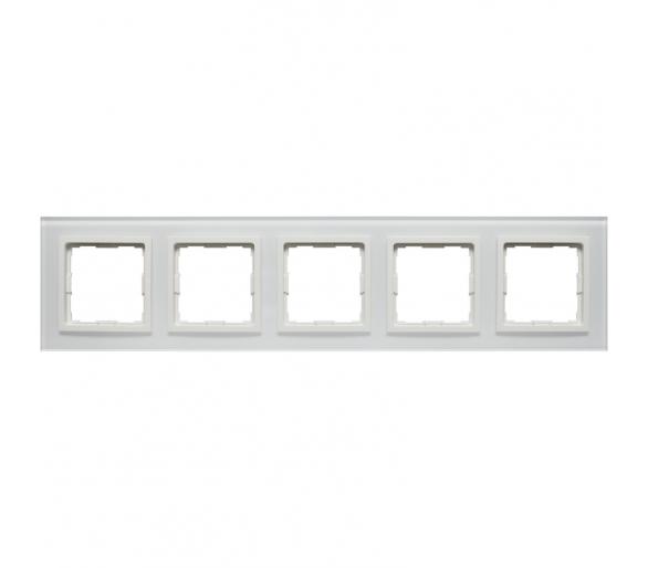 Ramka 5x białe szkło VENA2 XGLASS 5204185