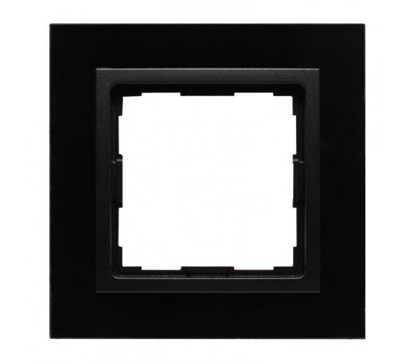 Ramka 1x czarne szkło VENA2 XGLASS 5209181