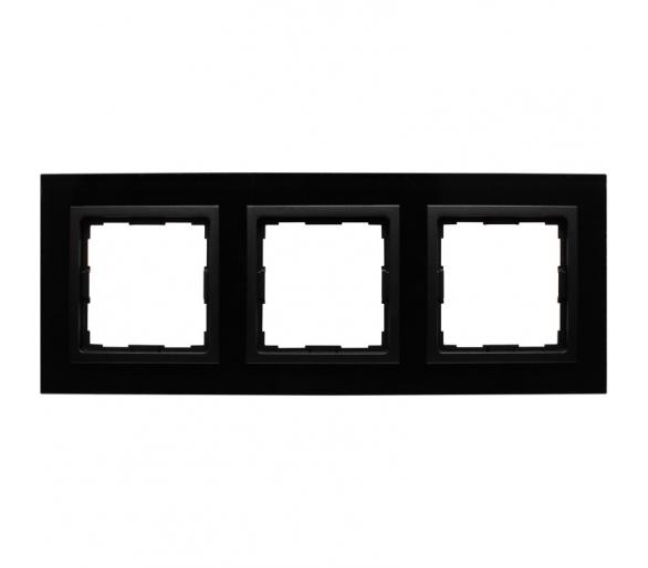 Ramka 3x czarne szkło VENA2 XGLASS 5209183