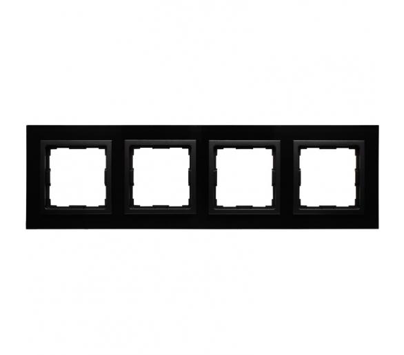 Ramka 4x czarne szkło VENA2 XGLASS 5209184