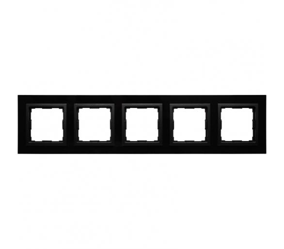 Ramka 5x czarne szkło VENA2 XGLASS 5209185