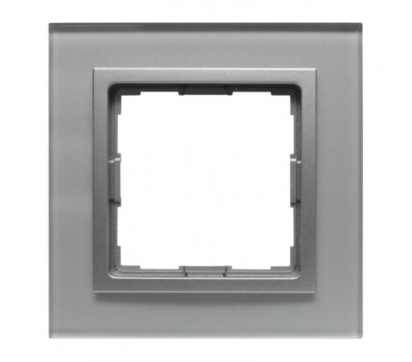 Ramka 1x srebrne szkło VENA2 XGLASS 5240181