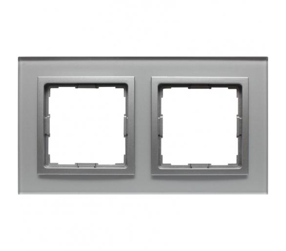 Ramka 2x srebrne szkło VENA2 XGLASS 5240182