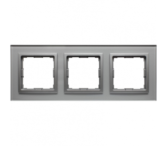 Ramka 3x srebrne szkło VENA2 XGLASS 5240183