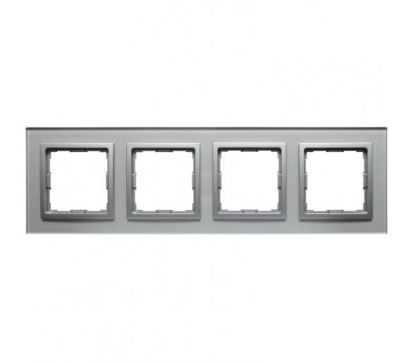 Ramka 4x srebrne szkło VENA2 XGLASS 5240184