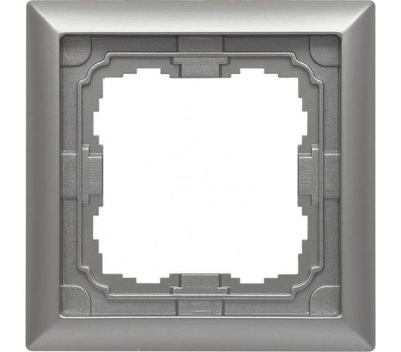 Ramka 1x aluminium KOS66 664081