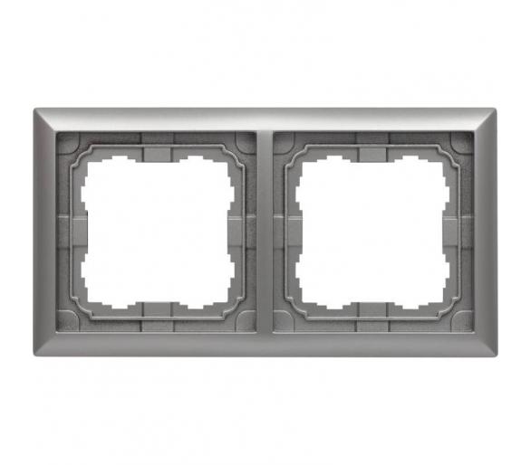 Ramka 2x aluminium KOS66 664082