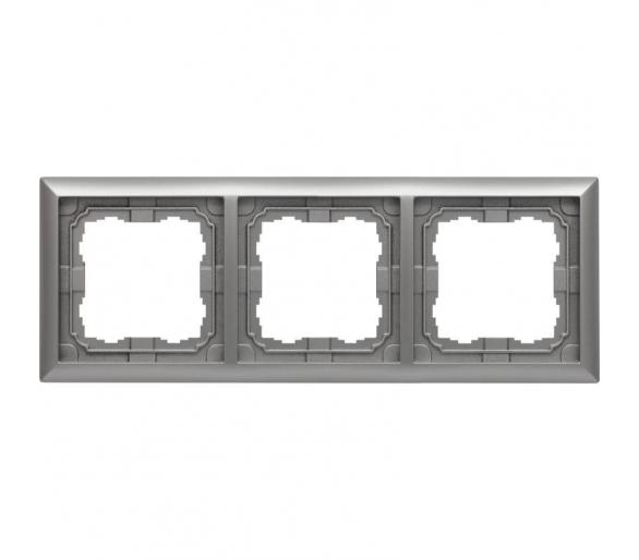 Ramka 3x aluminium KOS66 664083