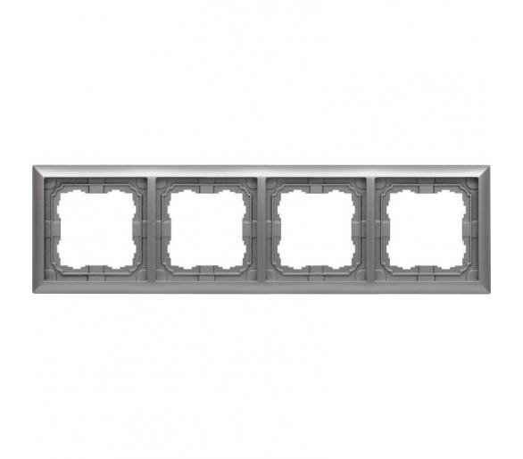 Ramka 4x aluminium KOS66 664084
