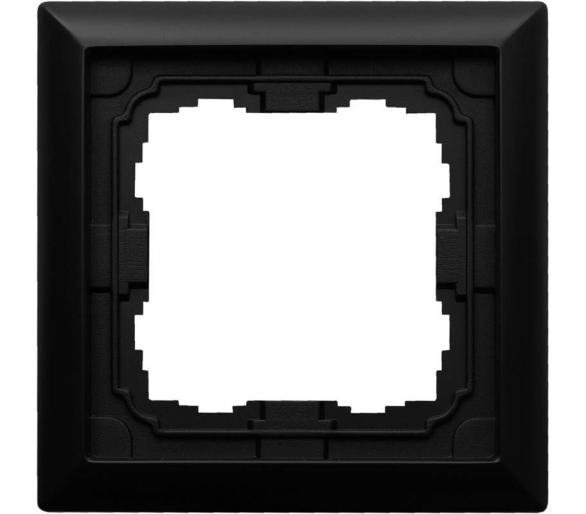 Ramka 1x czarny KOS66 660981