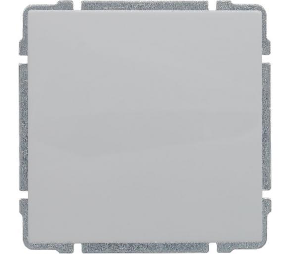Łącznik pojedynczy z klawiszem, bez ramki, biały KOS66 660411