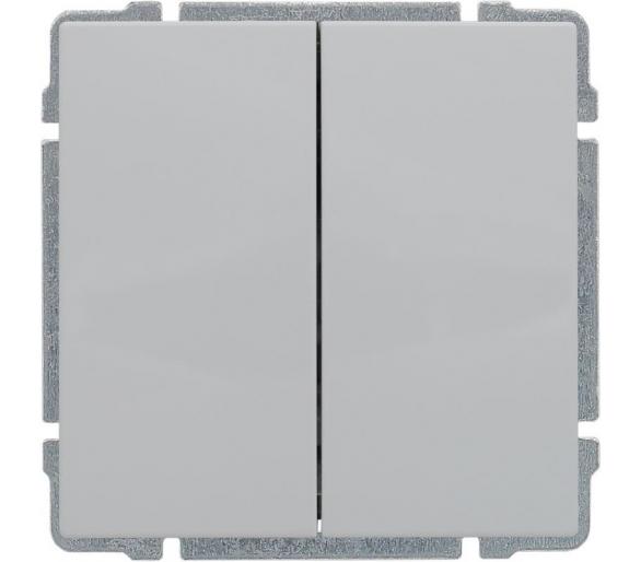 Łącznik świecznikowy z klawiszem, bez ramki, biały KOS66 660415
