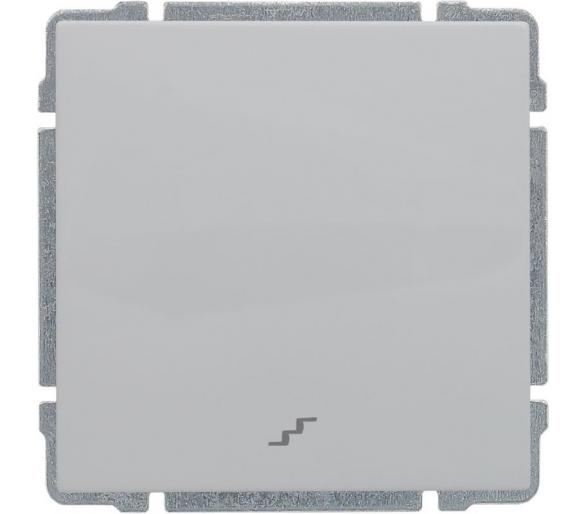 Łącznik schodowy z klawiszem, bez ramki, biały KOS66 660416