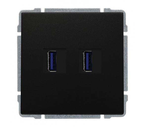 Ładowarka USB 3.0 podwójna czarny KOS66 660957