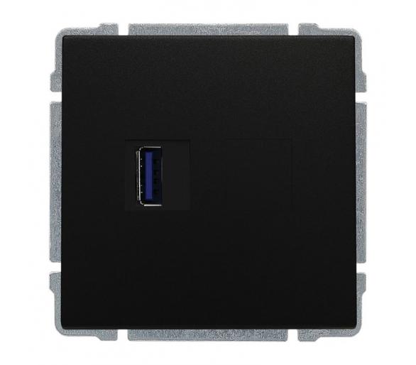 Ładowarka USB 3.0 pojedyncza czarny KOS66 660959