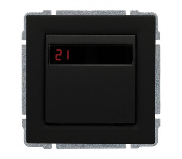 Regulator temperatury z wbudowanym czujnikiem temperatury, bez ramki czarny KOS66 6609815