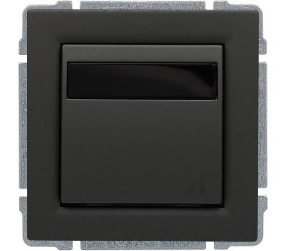 Ściemniacz LED 10-100W, sterowanie klawiszem i dowolnym pilotem, programowalny grafit KOS66 6660162