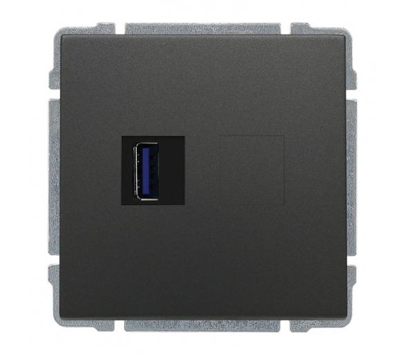 Ładowarka USB 3.0 pojedyncza grafit KOS66 666059