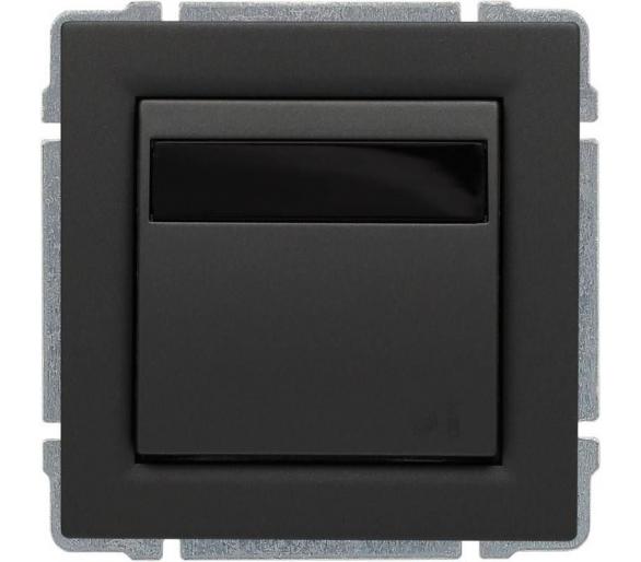 Regulator temperatury z wbudowanym czujnikiem temperatury, bez ramki grafit KOS66 6660815