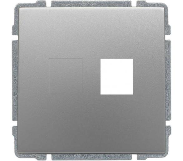 Pokrywa gniazda komputerowego do Keystone 22,5x45mm aluminium KOS66 6640801