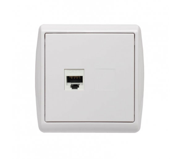 Gniazda komputerowe pojedyncze białe KOS1 110465