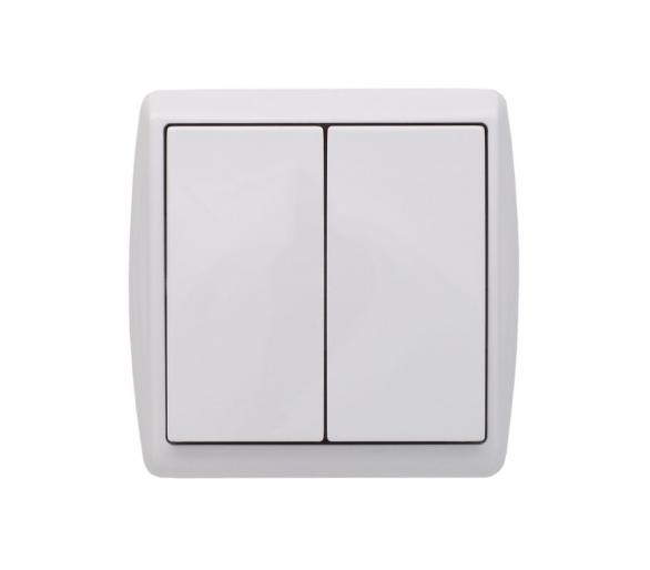 Łącznik podwójny (świecznikowy) biały KOS1 110405