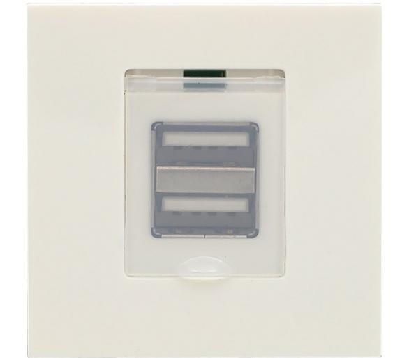 Moduł Keystone - moduł ładowarka USB x2 biały KOS45 3504160