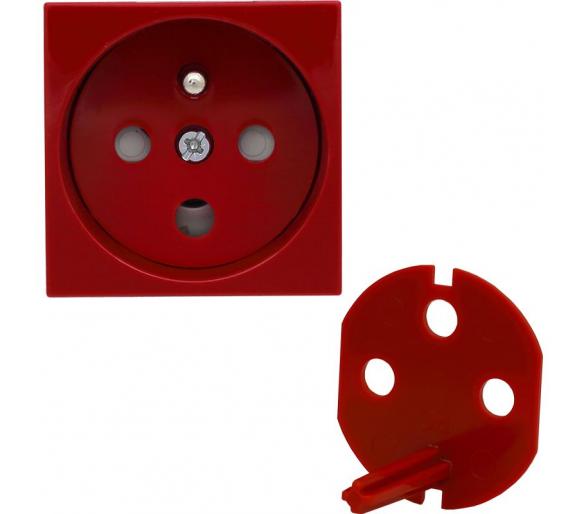 Gniazdo typu Data z blokadą torów prądowych, kolor czerwony KOS45 3510143