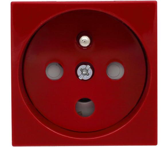 Gniazdo typu Data z blokadą torów prądowych + klucz uprawniający, kolor czerwony KOS45 351043