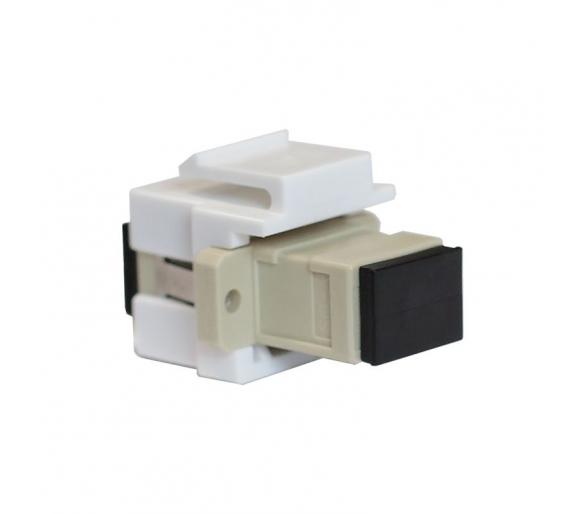 Moduł Keystone - gniazdo światłowodowe białe KOS45 500406