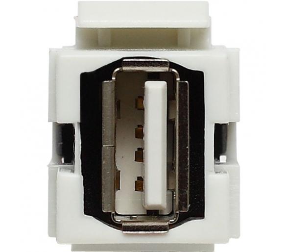Moduł Keystone - gniazdo multimedialne USB, bez ramki białe KOS45 500451