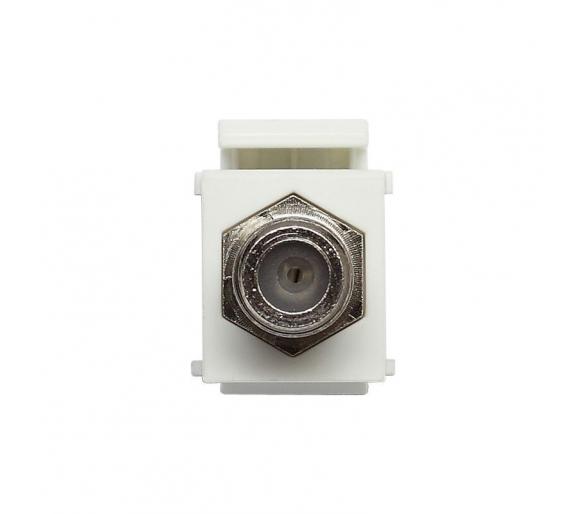 Moduł Keystone - gniazdo TV pojedyncze typu F, bez ramki białe KOS45 500454
