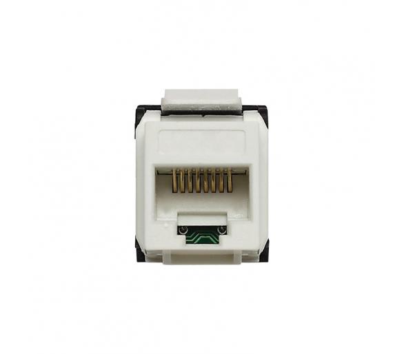 Moduł Keystone - gniazdo komputerowe białe KOS45 500461
