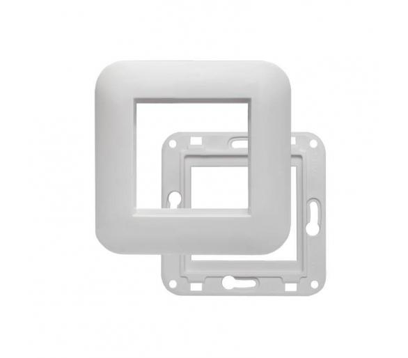 Ramka pojedyncza + uchwyt do modułu 45x45 biała KOS45 350446