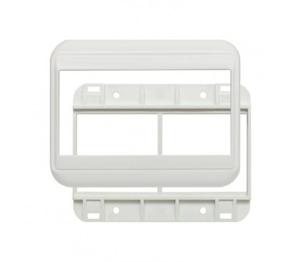 Ramka podwójna + uchwyt do modułów 45x45 (wymiar zewn. 104x80) biała KOS45 350447