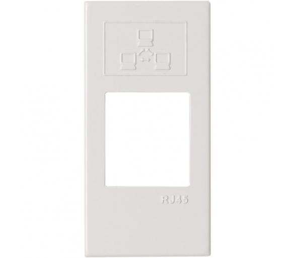 Pokrywa gniazda komputerowego do Keystone 22,5x45mm biała KOS45 3504801