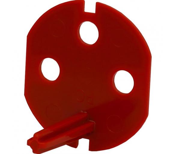 Klucz uprawniający do gniazd typu Data z taśmą samoprzylepną, kolor czerwony KOS45 351044