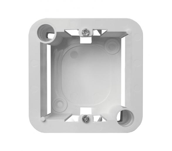 Puszka natynkowa - pojedyncza z wkrętami, pasuje do ramki 3504 46 biała KOS45 310491