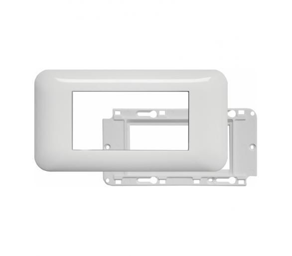Ramka podwójna + uchwyt do modułów 45x45 (wymiar zewn. 151x80) biała KOS45 3504103