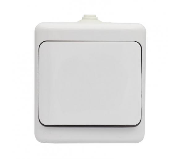 Łącznik pojedynczy, IP54 biały BRYZA 180401