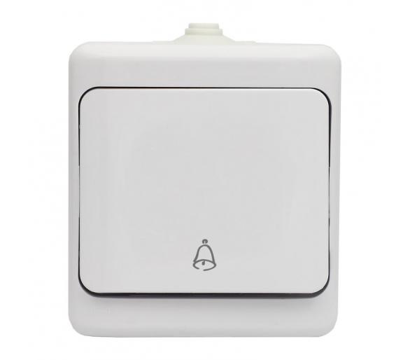 Przycisk dzwonek, IP54 biały BRYZA 180404
