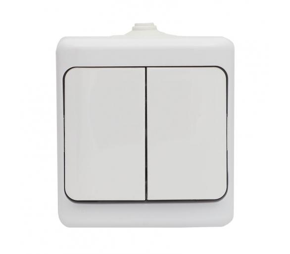 Łącznik świecznikowy, IP54 biały BRYZA 180405