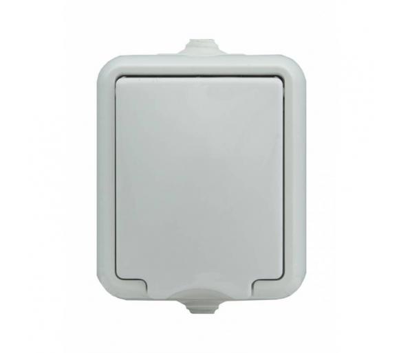Gniazdo pojedyncze IP 44, klapka biała HYDRO 120432