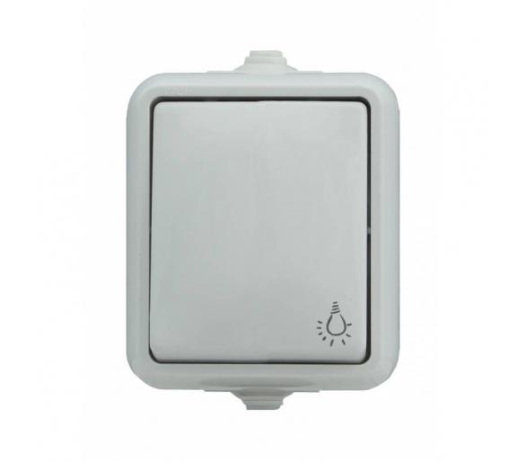 Przycisk światło, IP44 biały HYDRO 120403