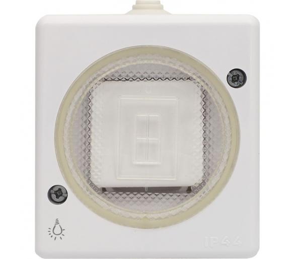 """Przycisk """"światło"""" wtynkowy bryzgoszczelny biały TROL 140403"""